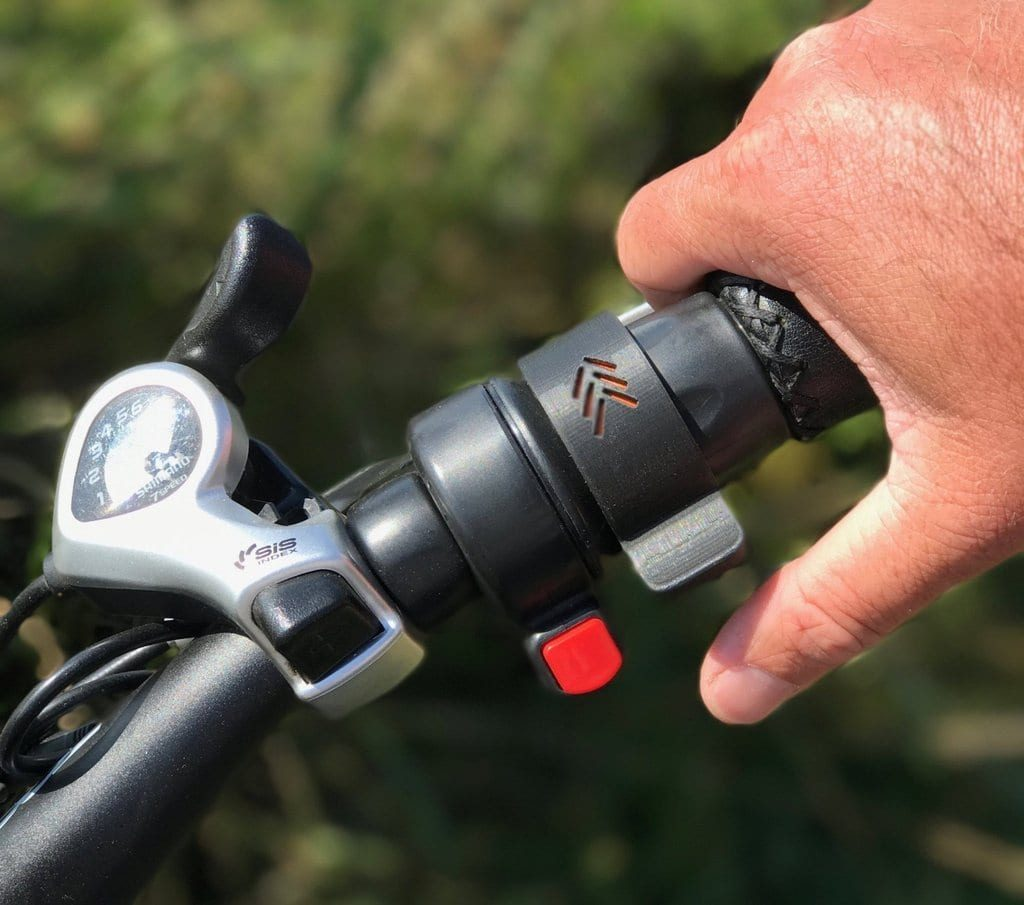 Throttle used on an ebike