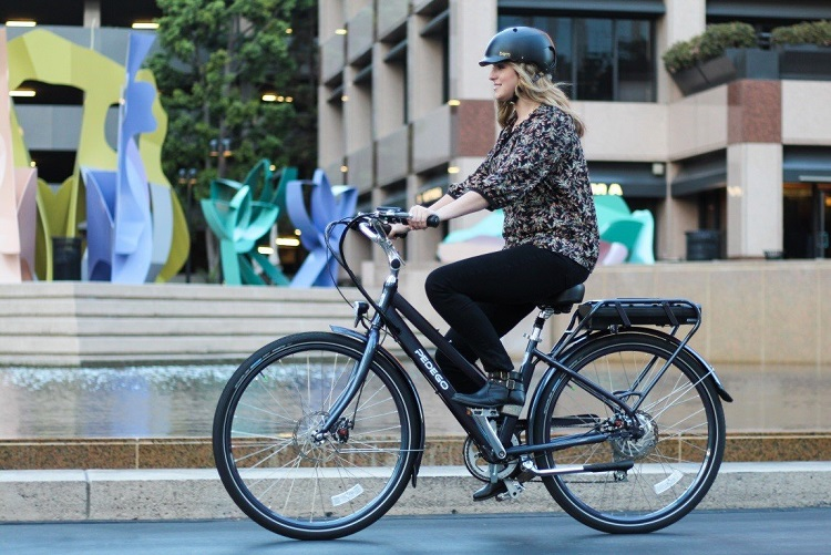 Woman Driving Electric Bike