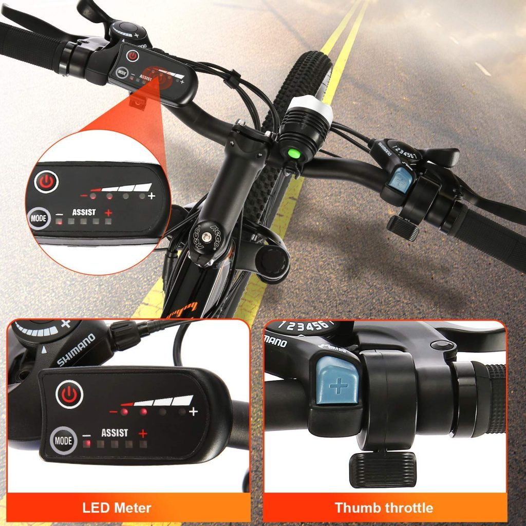 ANCHEER Electric Mountain Bike 350W LEDs