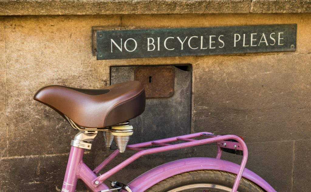 no bicycles rule